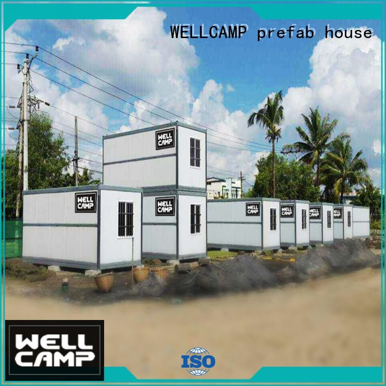 Hot foldable container house outdoor folding container house color