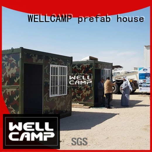 container cost foldable container house WELLCAMP, WELLCAMP prefab house, WELLCAMP container house manufacture