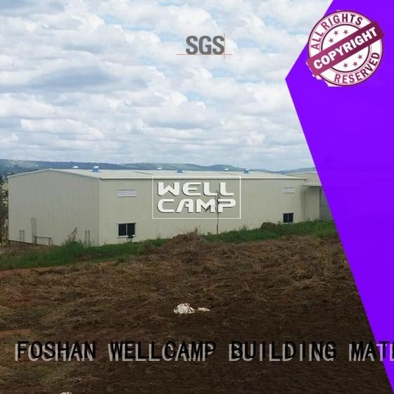 s6 sheet brick prefab warehouse WELLCAMP, WELLCAMP prefab house, WELLCAMP container house manufacture