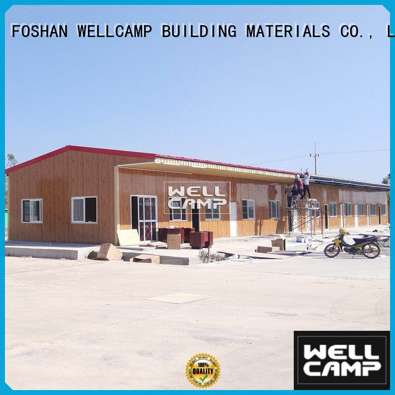 WELLCAMP, WELLCAMP prefab house, WELLCAMP container house Brand homes sandwich prefab houses for sale