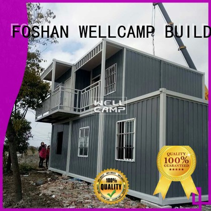 WELLCAMP, WELLCAMP prefab house, WELLCAMP container house Brand ripple sandwich custom modern container house