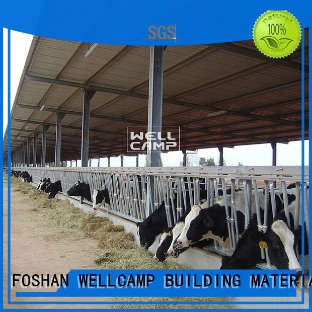 WELLCAMP, WELLCAMP prefab house, WELLCAMP container house Brand cowshed prefab structure steel shed