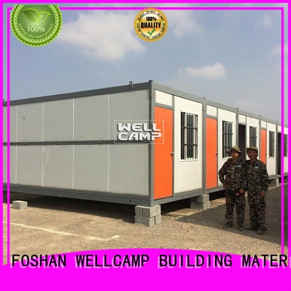 portable c1 workers WELLCAMP, WELLCAMP prefab house, WELLCAMP container house Brand folding container house supplier