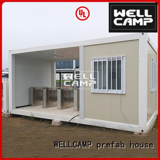 Quality WELLCAMP, WELLCAMP prefab house, WELLCAMP container house Brand flat pack storage container flat wellcamp