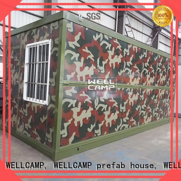Custom steel folding container house prefabricated WELLCAMP, WELLCAMP prefab house, WELLCAMP container house