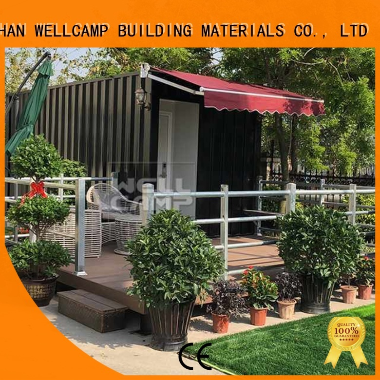 Wholesale FC board shipping container house for villa resort Fire proof door WELLCAMP, WELLCAMP prefab house, WELLCAMP container house Brand