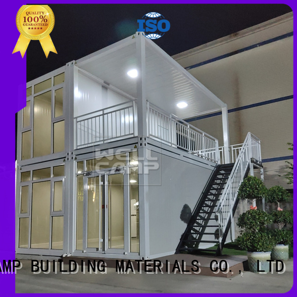 folding c2 low customized light steel villa WELLCAMP, WELLCAMP prefab house, WELLCAMP container house Brand