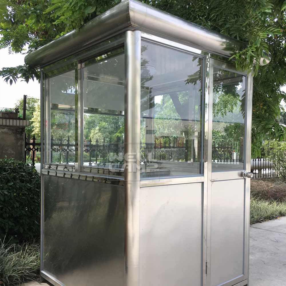Stainless steel portable mobile security room, Wellcamp R-1