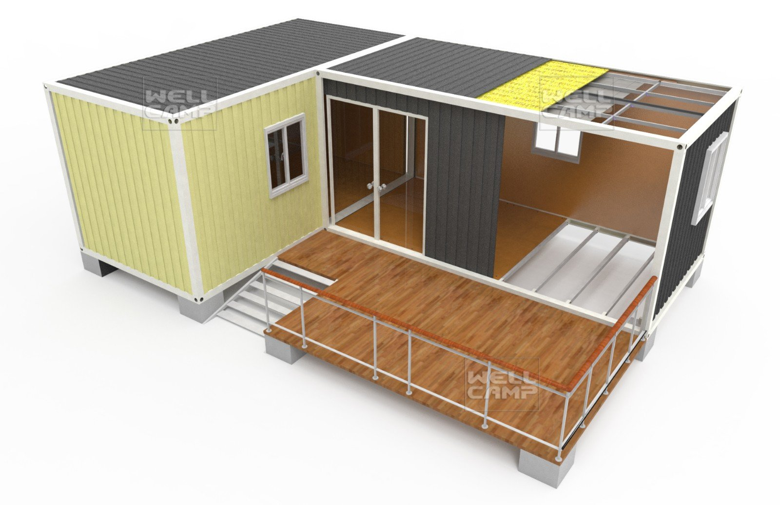steel c1 luxury living container villa suppliers premade WELLCAMP, WELLCAMP prefab house, WELLCAMP container house
