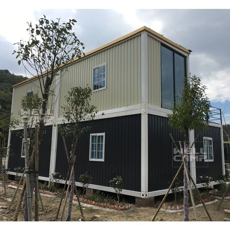 Find wellcamp container house for container hotel for Villa container