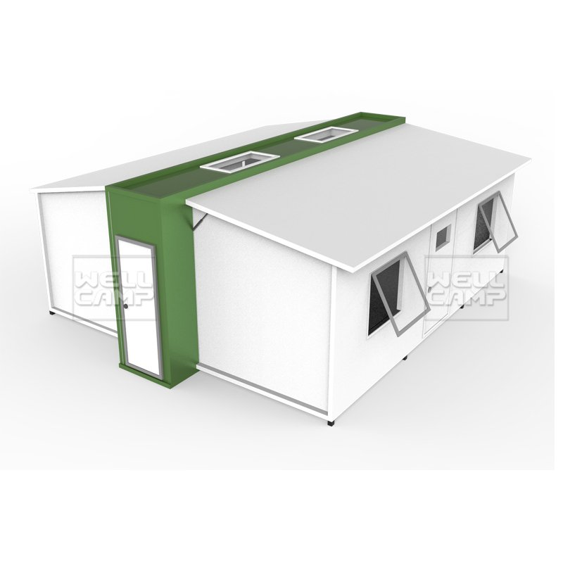 Easy Install Expandable Container Shelter House for Living, Wellcamp E-1