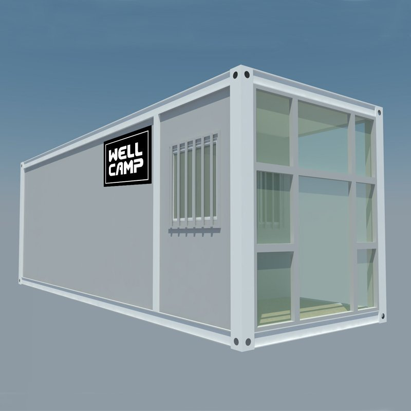 Extended Long Flat Pack Container House For Office, Wellcamp FL-05