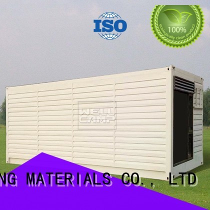 shipping container house for villa resort PVC tile Fire proof door Aluminum sliding WELLCAMP, WELLCAMP prefab house, WELLCAMP container house Brand modern shipping container house