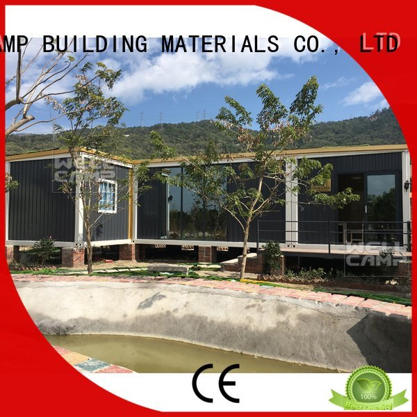 low ecofriendly container cost WELLCAMP, WELLCAMP prefab house, WELLCAMP container house luxury living container villa suppliers