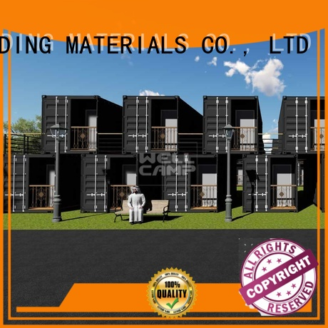 shipping container house for villa resort Fire proof door Aluminum sliding FC board modern shipping container house manufacture