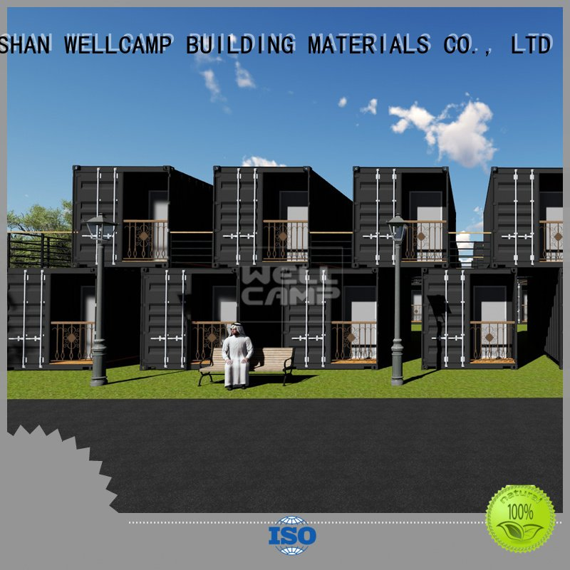 shipping container house for villa resort Aluminum sliding WELLCAMP, WELLCAMP prefab house, WELLCAMP container house Brand moder