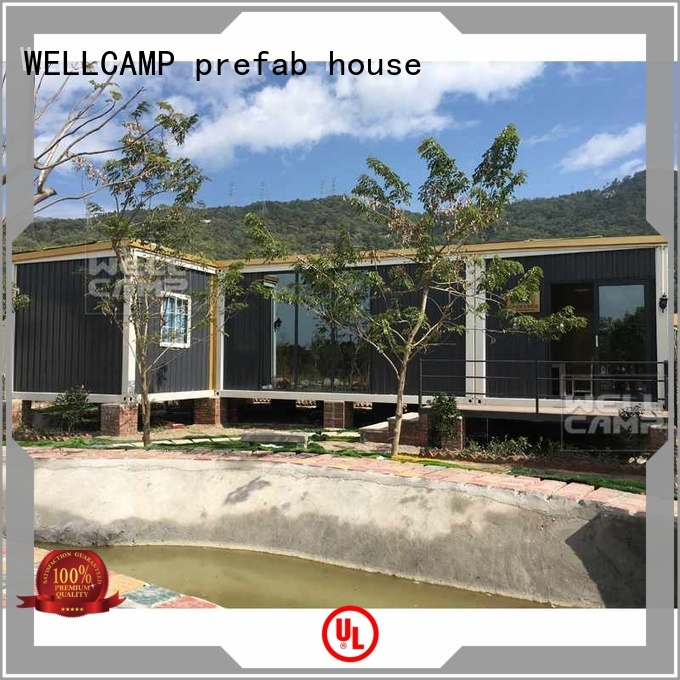 customized light steel villa premade WELLCAMP, WELLCAMP prefab house, WELLCAMP container house Brand luxury living container villa suppliers