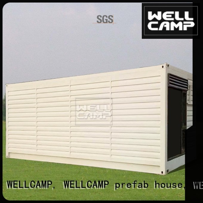 Wholesale PVC tile shipping container house for villa resort FC board WELLCAMP, WELLCAMP prefab house, WELLCAMP container house Brand