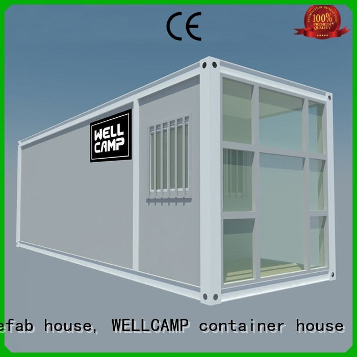 WELLCAMP, WELLCAMP prefab house, WELLCAMP container house Brand flat wool flat pack storage container house supplier