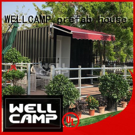 shipping container house for villa resort PVC tile FC board modern shipping container house WELLCAMP, WELLCAMP prefab house, WEL