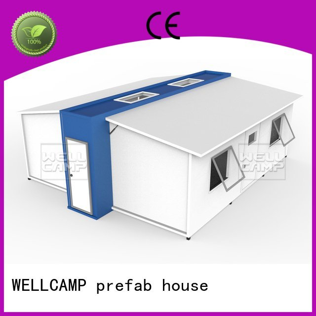 WELLCAMP, WELLCAMP prefab house, WELLCAMP container house expandable shelter