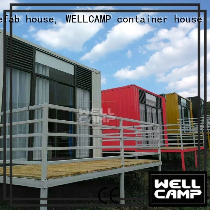 shipping container house for villa resort Fire proof door PVC tile modern shipping container house Aluminum sliding WELLCAMP, WELLCAMP prefab house, WELLCAMP container house Brand