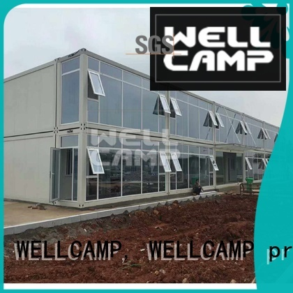 WELLCAMP, WELLCAMP prefab house, WELLCAMP container house Brand wool panel container flat pack container house