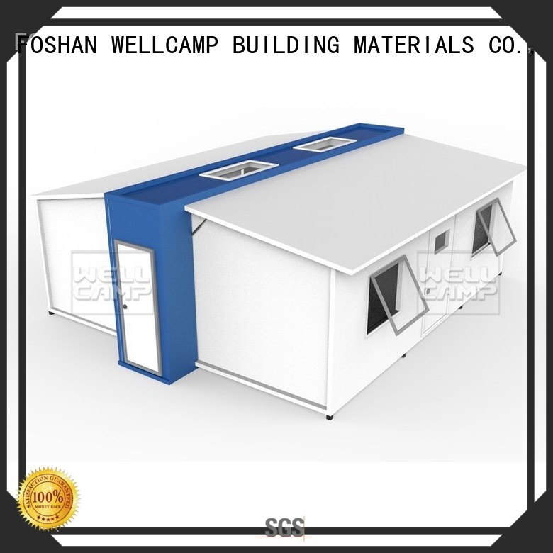 Hot expandable shelter WELLCAMP, WELLCAMP prefab house, WELLCAMP container house Brand