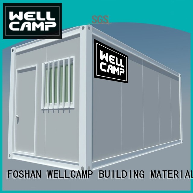 WELLCAMP, WELLCAMP prefab house, WELLCAMP container house Brand flat wellcamp container flat pack storage container