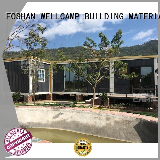 container folding villa WELLCAMP, WELLCAMP prefab house, WELLCAMP container house Brand luxury living container villa suppliers supplier