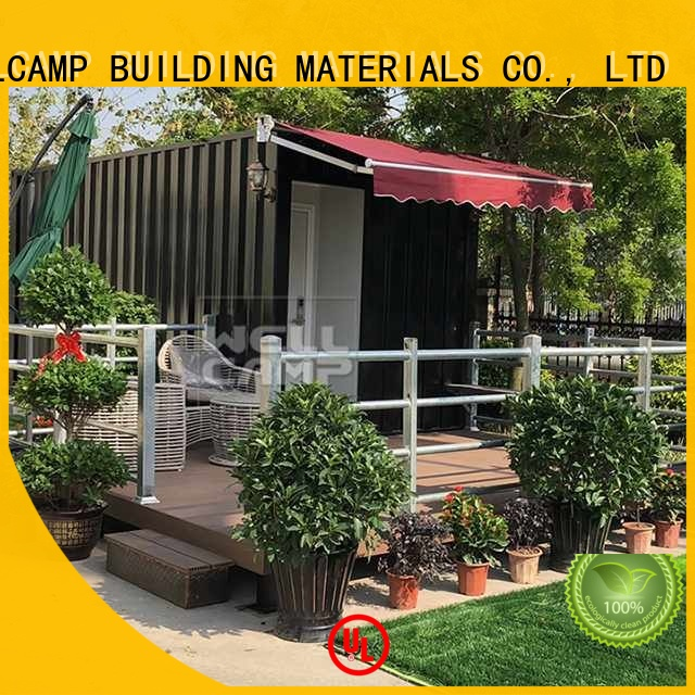 WELLCAMP, WELLCAMP prefab house, WELLCAMP container house Brand Aluminum sliding Fire proof door shipping container house for villa resort FC board supplier