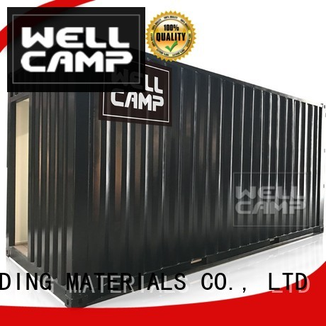 shipping container house for villa resort Fire proof door Aluminum sliding PVC tile WELLCAMP, WELLCAMP prefab house, WELLCAMP container house Brand company