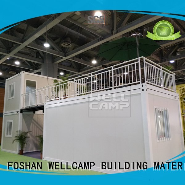 Wholesale glass flat pack container house WELLCAMP, WELLCAMP prefab house, WELLCAMP container house Brand