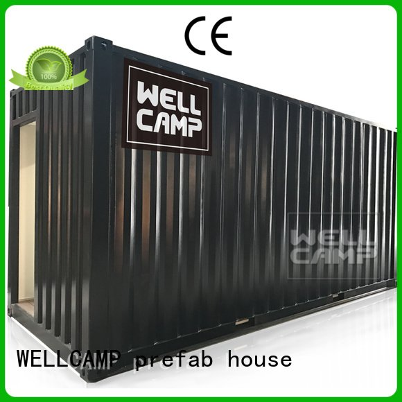 Hot shipping container house for villa resort FC board modern shipping container house PVC tile WELLCAMP, WELLCAMP prefab house,