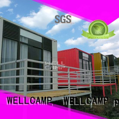 WELLCAMP, WELLCAMP prefab house, WELLCAMP container house Brand Aluminum sliding PVC tile modern shipping container house Fire p