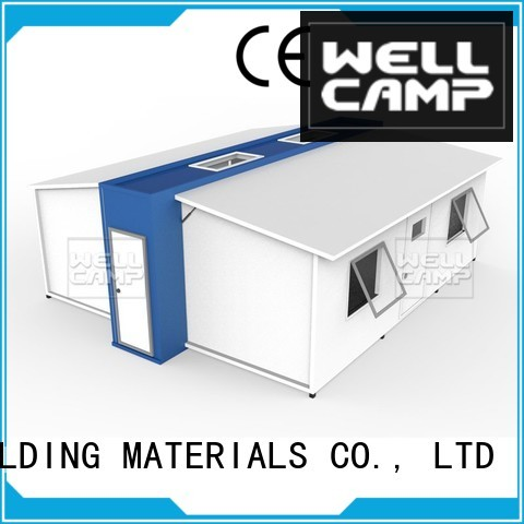 expandable shelter WELLCAMP, WELLCAMP prefab house, WELLCAMP container house Brand