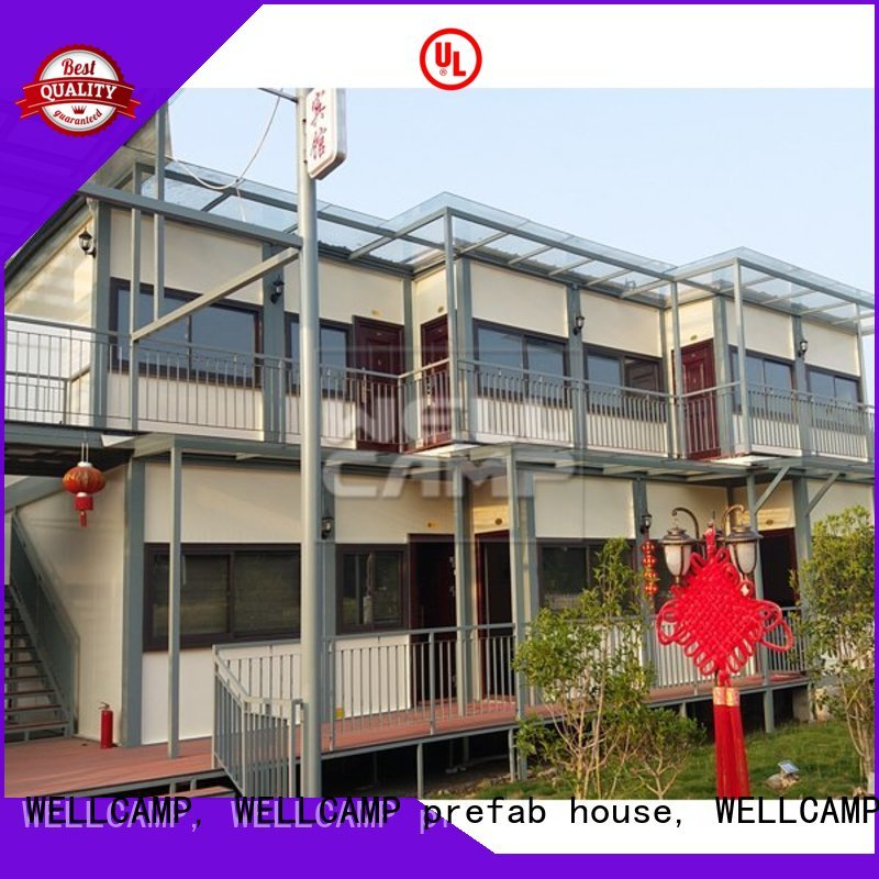 villa premade light luxury living container villa suppliers folding WELLCAMP, WELLCAMP prefab house, WELLCAMP container house Brand