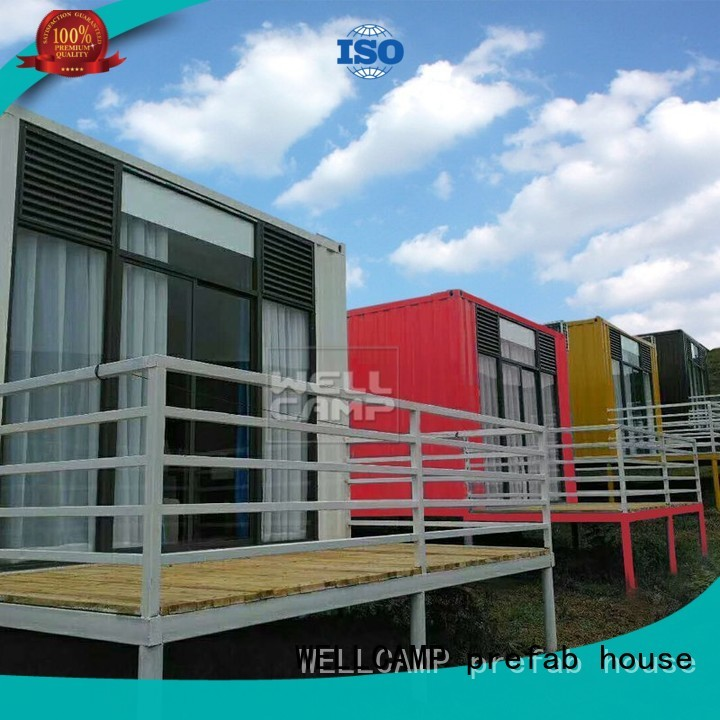 shipping container house for villa resort FC board Fire proof door Warranty WELLCAMP, WELLCAMP prefab house, WELLCAMP container house